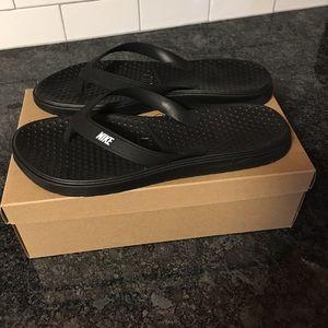 Nike sport flip flops, black, size 11
